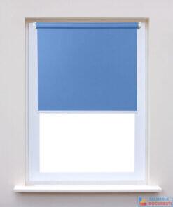 Rolete textile simple bleu pe fereastra - Jaluzele Bucuresti