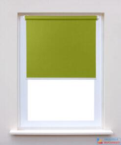 Rolete textile simple verde pe fereastra - Jaluzele Bucuresti