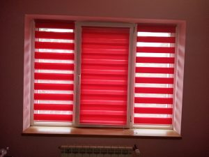 Rolete textile zebra rosu - Jaluzele Bucuresti